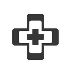 cross medical health symbol vector image