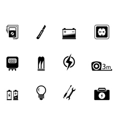 electrical equipment set vector image