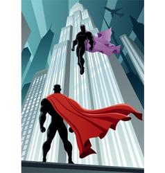 Hero Versus Villain vector image