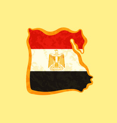 map of egypt colored with egyptian flag and vector image vector image
