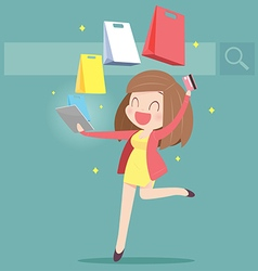 ShoppingOnline vector image vector image