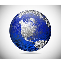 abstract american globe vector image vector image