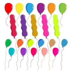 Balloons set on white background vector image