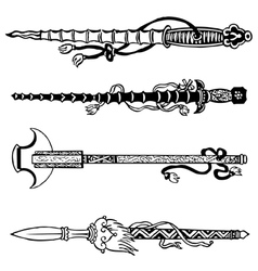 Chinese swords vector image