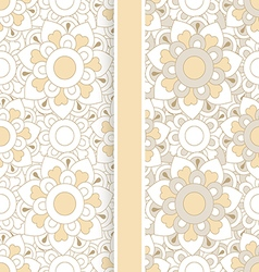set of two pastel floral seamless patterns vector image vector image