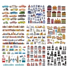 A set of houses vector image vector image