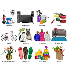 Colorful icons set for Department store vector image