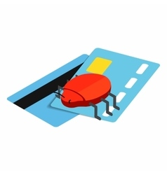 Credit card 3d isometric icon vector image
