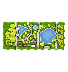park top view vector image