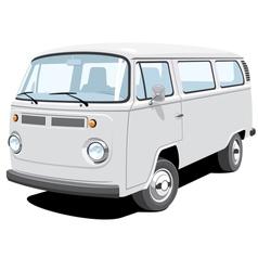 passenger and cargo van vector image vector image