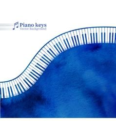 Piano keys watercolor background vector image