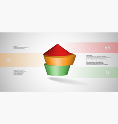 3d infographic template with round vector image