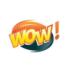 A word wow icon vector