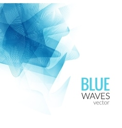 Abstract Blue Line business wave white vector