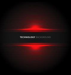 abstract technology red lines horizontal laser vector image