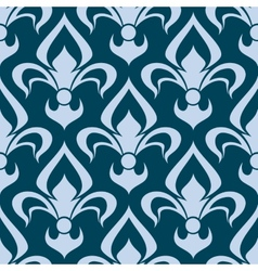 Arabesque seamless pattern with a fleur de lys vector image