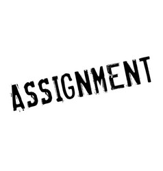 assignment rubber stamp vector image