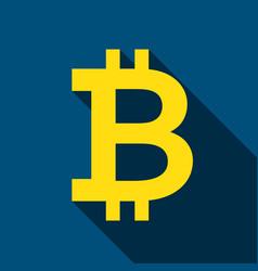 bitcoin flat icon vector image