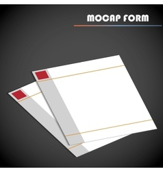 Blank lined paper vector