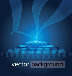 Blue circle vector image