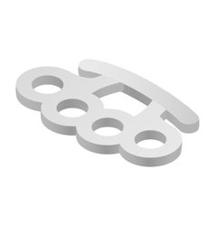 Brass knuckles isometric 3d icon vector