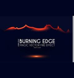 Burining ragged edge shining design fire and vector