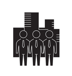 business company black concept icon vector image