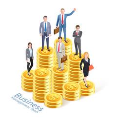 business management concept background business vector image