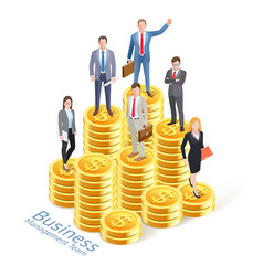 business management concept background vector image