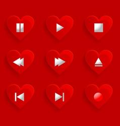 Buttons control heart vector