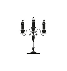 candlestick black icon vector image