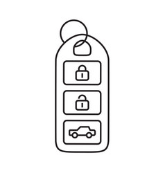 Car keyless smart key line art icons for apps vector