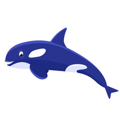 cartoon cute killer whale vector image