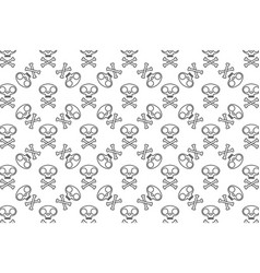 cat skull symbol with crossed bones seamless vector image