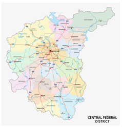 Central federal district road administrative vector