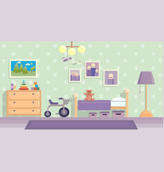 childrens room in lilac image in flat vector image