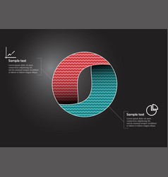 Circle infographic template consists two vector
