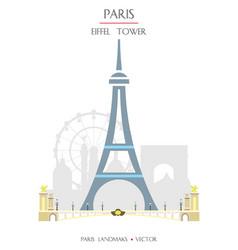 Colorful paris landmark 4 vector