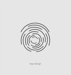 creative icon - linear decorative element vector image