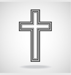 Cross christian symbol eps vector