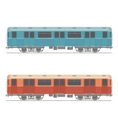 Decorative underground rapid train design vector