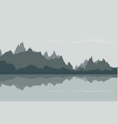 design of rocky landscape on the banks vector image