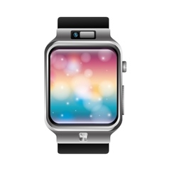 Digital wristwatch vector