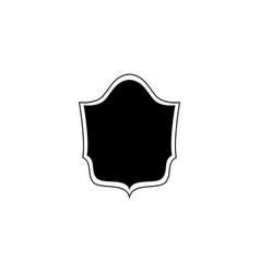 emblem badge and icon black royal shield vector image