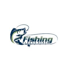 fishing logo template vector image