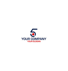 Five vision logo design vector
