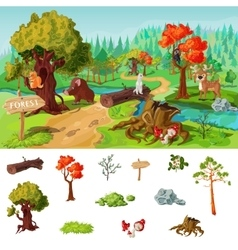 Forest Elements Concept vector image vector image