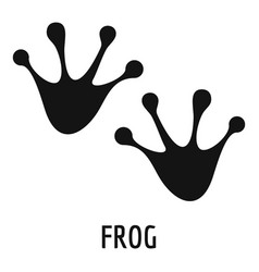 Frog step icon simple style vector