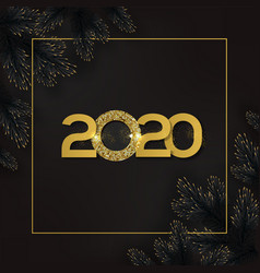 gold 2020 happy new year vector image
