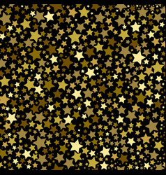 gold stars seamless pattern vector image